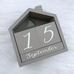 Wooden House Block Calendar NWOT